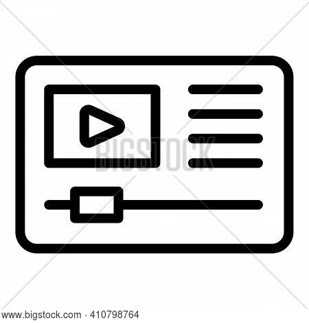 Video Edit Icon. Outline Video Edit Vector Icon For Web Design Isolated On White Background