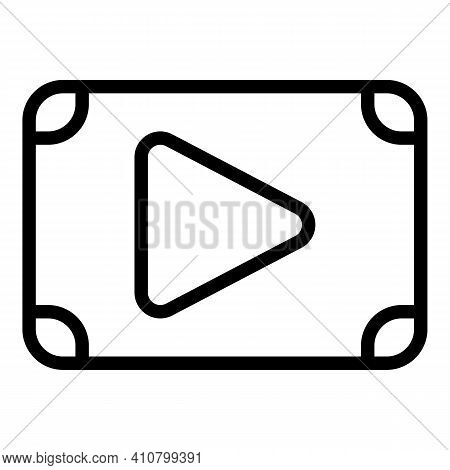 Clip Film Icon. Outline Clip Film Vector Icon For Web Design Isolated On White Background