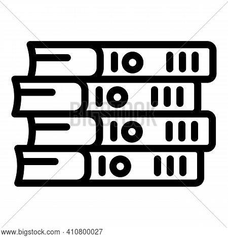 E Catalogs Icon. Outline E Catalogs Vector Icon For Web Design Isolated On White Background