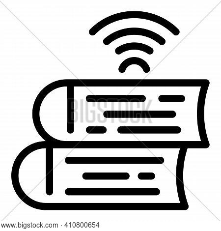 Wireless Catalogs Icon. Outline Wireless Catalogs Vector Icon For Web Design Isolated On White Backg