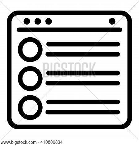 Digital Catalog Icon. Outline Digital Catalog Vector Icon For Web Design Isolated On White Backgroun