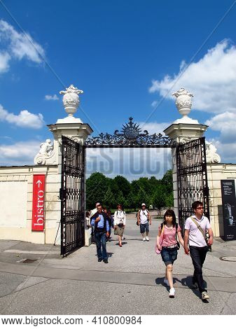 Vienna, Austria - 10 Jun 2011: The Gate In Belvedere Palace In Vienna, Austria