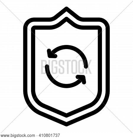 Shield Privacy Icon. Outline Shield Privacy Vector Icon For Web Design Isolated On White Background