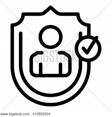 Human Privacy Icon. Outline Human Privacy Vector Icon For Web Design Isolated On White Background