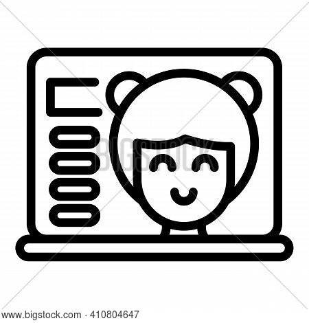 Kid Assistance Icon. Outline Kid Assistance Vector Icon For Web Design Isolated On White Background