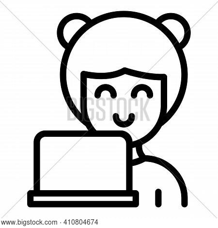Customer Care Assistant Icon. Outline Customer Care Assistant Vector Icon For Web Design Isolated On