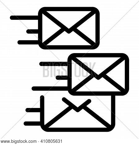 Sending Emails Icon. Outline Sending Emails Vector Icon For Web Design Isolated On White Background
