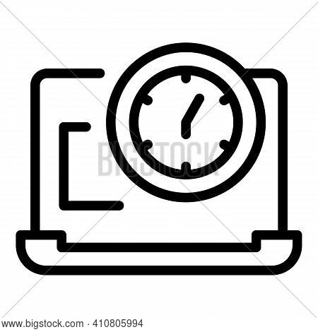 Working Hours Icon. Outline Working Hours Vector Icon For Web Design Isolated On White Background