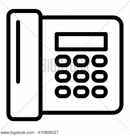 Telephone Contact Icon. Outline Telephone Contact Vector Icon For Web Design Isolated On White Backg