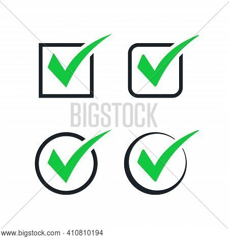 Vector Illustration Of A Checkmark Icon Collection. Suitable For Design Element Of Quality Assessmen