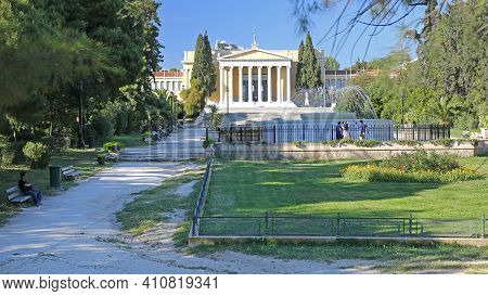 Athens, Greece - May 04, 2015: Zappeion Hall Neoclassical Building Conference And Exhibition Center
