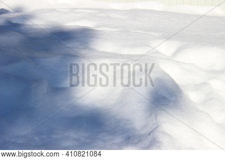 Snowdrift Isolated On White Background For Design.
