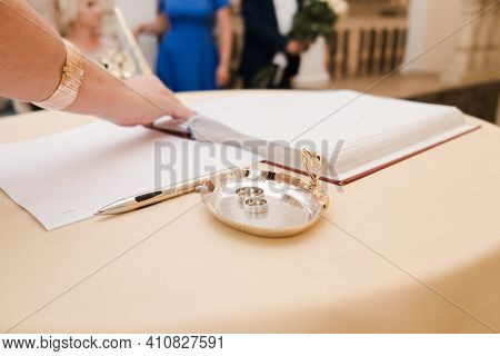 Registry Office. Wedding Rings. Wedding House. Morning Bride