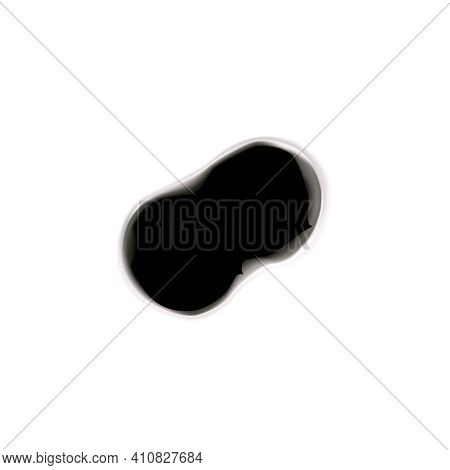 Bullet Holes Target Realistic Composition On Blank Background With Isolated Image Of Two Bullet Spot
