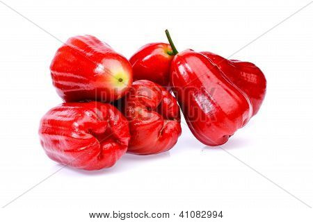 Rose Apple Fruit  On White Background