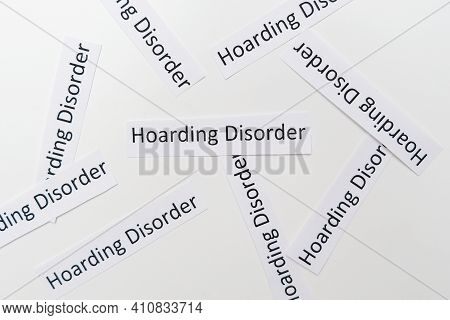 Hoarding Disorder Signs On White Background, Mental Health Problem When People Collect Different Use