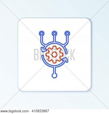 Line Algorithm Icon Isolated On White Background. Algorithm Symbol Design From Artificial Intelligen