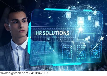 Business, Technology, Internet And Network Concept. Hr Solutions