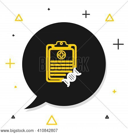 Line Clipboard With Dna Analysis Icon Isolated On White Background. Genetic Engineering, Genetics Te