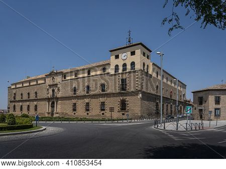 Toledo, Spain, July 2020 - Ancient Church In The City Of Toledo, Spain