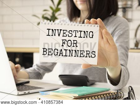 Investor. Business Concept. Investing For Beginners Card In Hands
