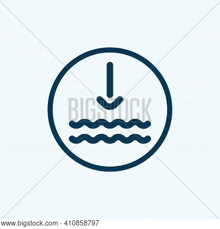 Water Precipitation Vector Icon. Filled Flat Sign For Mobile Concept And Web Design. Water Waves And