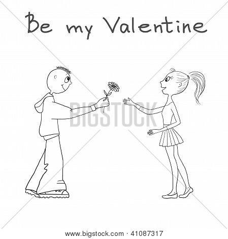 Drawing Be My Valentine