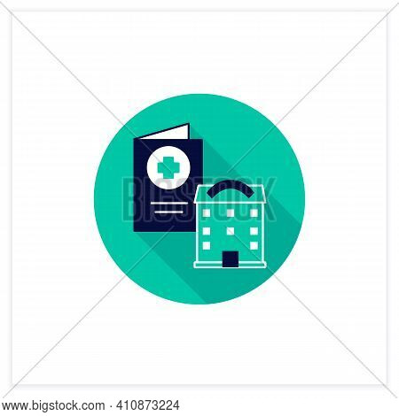 Health Passport Flat Icon. Necessary Document About Health Status. Vaccinated Card. Necessarily In G