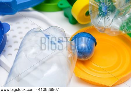 Many Pet Plastic Objects, Things That Can Be Recycled In Order To Save Nature And Protect Environmen