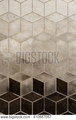 Abstract Brown Cubic Patterned Background High Quality