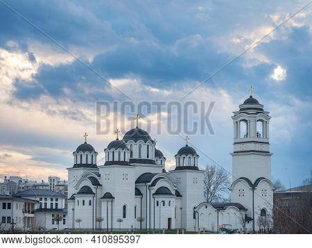 Church Of Hram Svetog Simeona Mirotocivog, Also Called The Temple Of Saint Simeon, In New Belgrade D