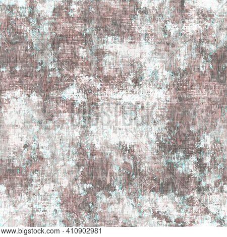 Mottled Grunge Blotch Peeling Wall Pattern Background. Worn Aqua Blue Grey Rustic Repeat Swatch. Sea