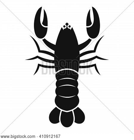 Ocean Lobster Icon. Simple Illustration Of Ocean Lobster Vector Icon For Web Design Isolated On Whit
