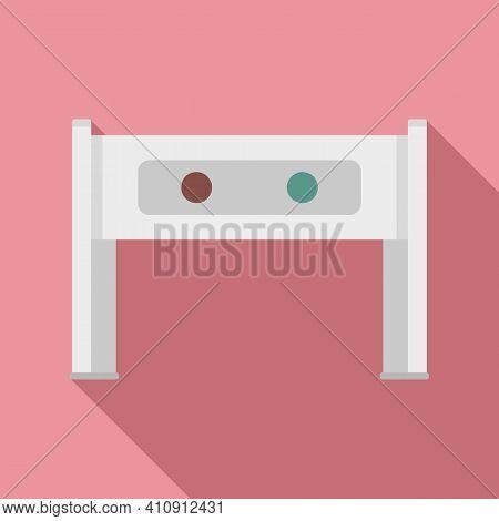 Metal Detector Icon. Flat Illustration Of Metal Detector Vector Icon For Web Design