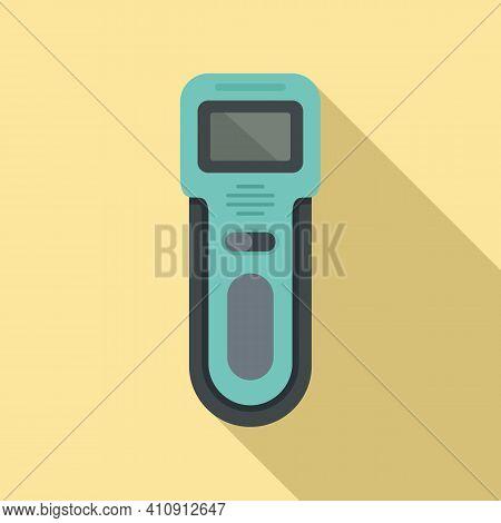 Body Metal Detector Icon. Flat Illustration Of Body Metal Detector Vector Icon For Web Design