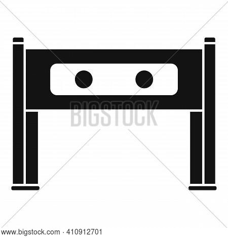 Metal Detector Icon. Simple Illustration Of Metal Detector Vector Icon For Web Design Isolated On Wh