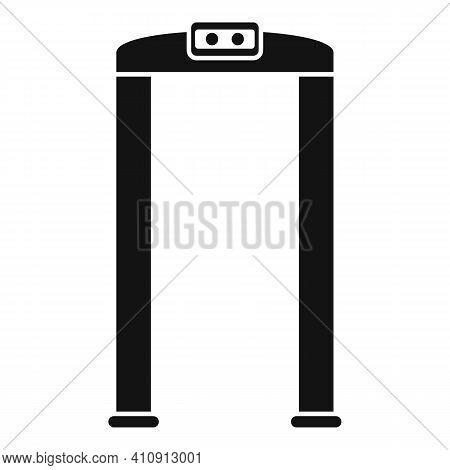 Arch Metal Detector Icon. Simple Illustration Of Arch Metal Detector Vector Icon For Web Design Isol