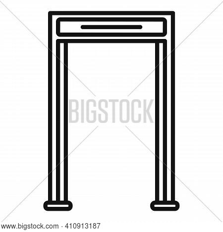 Airport Gate Metal Detector Icon. Outline Airport Gate Metal Detector Vector Icon For Web Design Iso