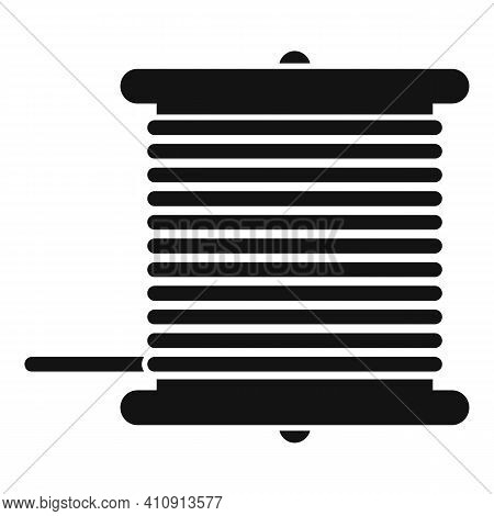 Radio Wire Bobine Icon. Simple Illustration Of Radio Wire Bobine Vector Icon For Web Design Isolated