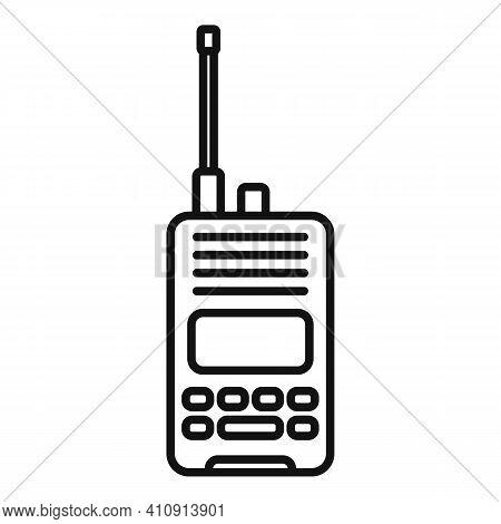 Radio Walkie Talkie Icon. Outline Radio Walkie Talkie Vector Icon For Web Design Isolated On White B