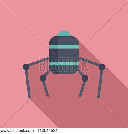 Nano Future Robot Icon. Flat Illustration Of Nano Future Robot Vector Icon For Web Design