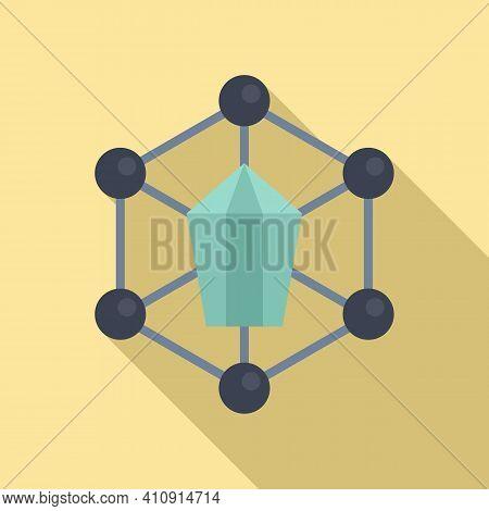 Nanotechnology Structure Icon. Flat Illustration Of Nanotechnology Structure Vector Icon For Web Des