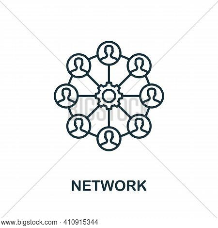 Network Vector Icon Symbol. Creative Sign From Seo And Development Icons Collection. Filled Flat Net