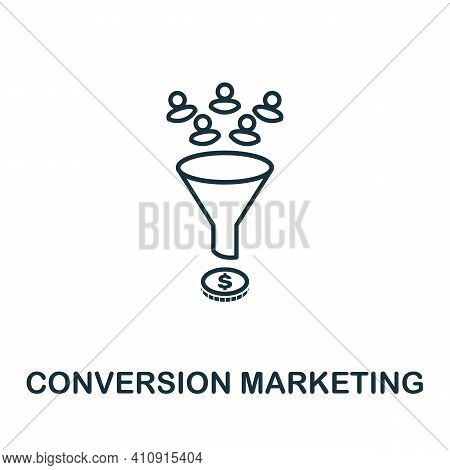 Conversion Marketing Vector Icon Symbol. Creative Sign From Seo And Development Icons Collection. Fi