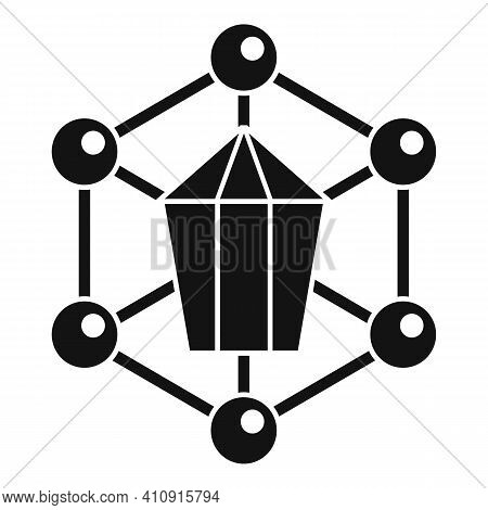 Nanotechnology Structure Icon. Simple Illustration Of Nanotechnology Structure Vector Icon For Web D