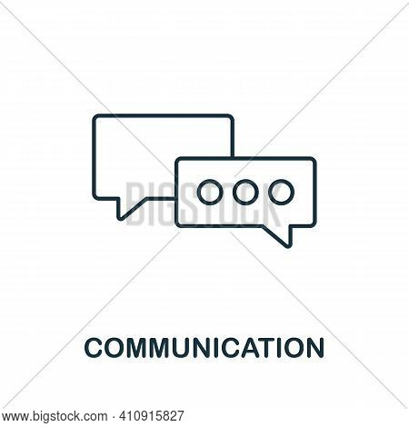 Communication Vector Icon Symbol. Creative Sign From Seo And Development Icons Collection. Filled Fl