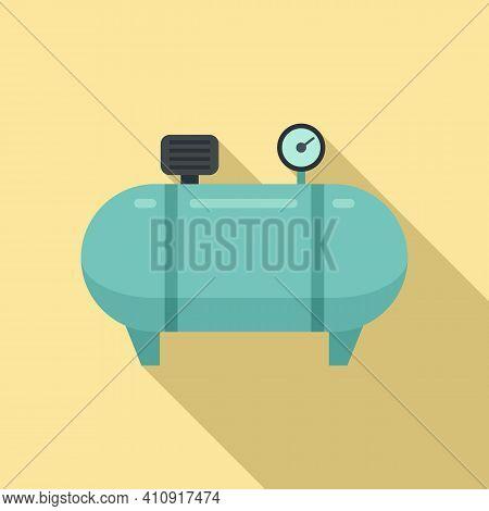 Instrument Air Compressor Icon. Flat Illustration Of Instrument Air Compressor Vector Icon For Web D