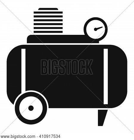Air Compressor Pneumatic Icon. Simple Illustration Of Air Compressor Pneumatic Vector Icon For Web D