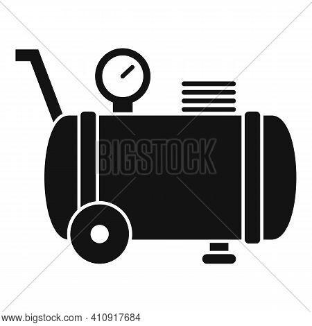 Pressure Air Compressor Icon. Simple Illustration Of Pressure Air Compressor Vector Icon For Web Des