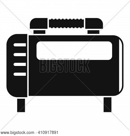 Motor Air Compressor Icon. Simple Illustration Of Motor Air Compressor Vector Icon For Web Design Is